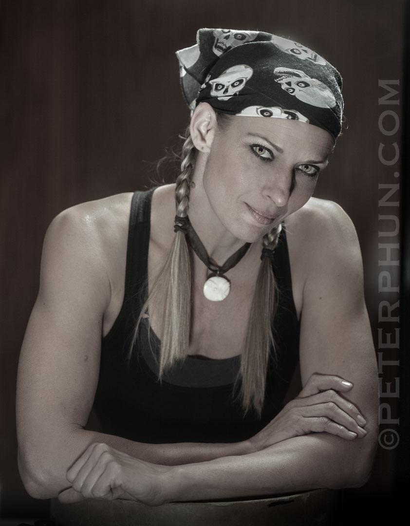 Jennifer, one of my models for Small Flash Lighting workshop