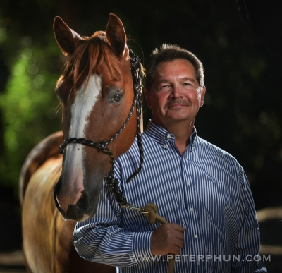 Dan Sewell with Butch his horse