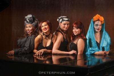 Lisett, Claudia, Jennifer, Jackie and Fryda--models for my lighting workshop