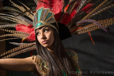 Aztec dancer by Debbie Redfearn. Small Flash Lighting workshop
